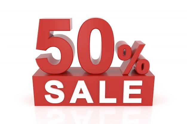 Cinquante pour cent de vente Photo Premium