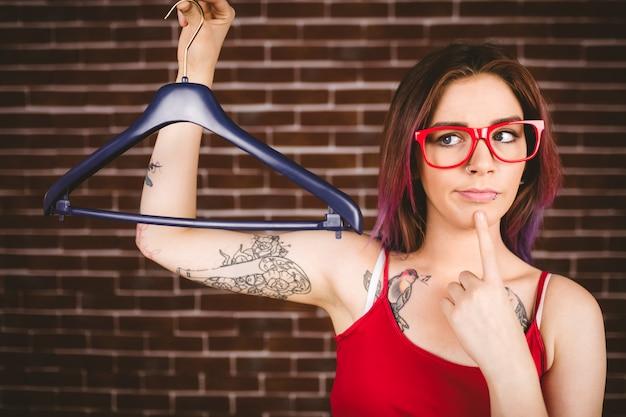 Cintre de femme confus Photo Premium