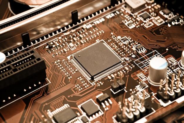 Circuit électronique avec processeur Photo Premium