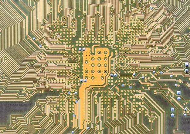 Circuit intégré sur ordinateur Photo Premium