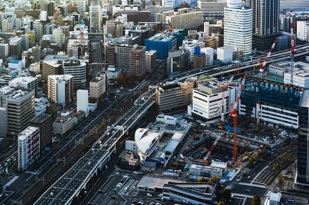 Circulation et ville à yokohama, japon Photo Premium