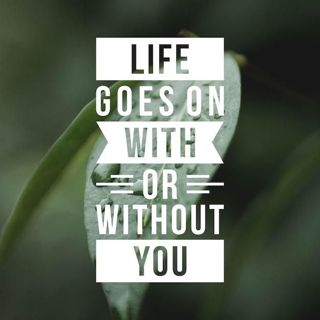 Citation Positive Pour L'inspiration Et La Motivation Dans La Vie. Habilitez Votre Esprit Pour Une Grande Réflexion. Photo Premium