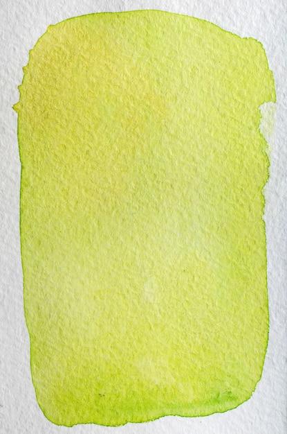 Citron, Citron Vert, Poire, Jaune, Vert Frais Lumineux Aquarelle Abstrait Dessiné à La Main. Espace Pour Le Texte, Le Lettrage, La Copie. Modèle De Carte Postale. Photo Premium