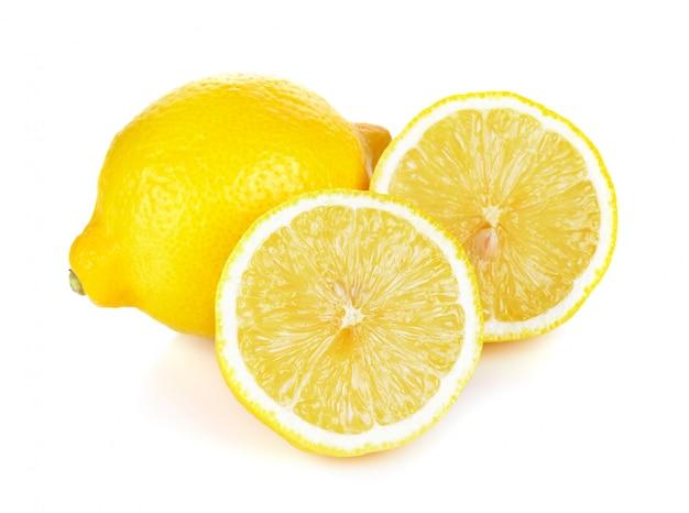 Citron isolé sur fond blanc Photo Premium