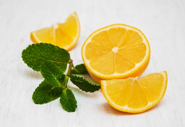 Citron et menthe Photo Premium