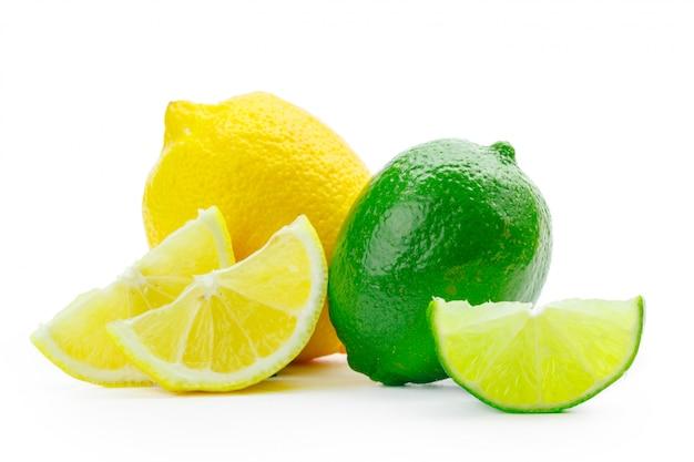 Citron Vert Et Citron Photo Premium
