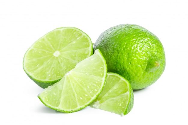 Citron vert isolé sur blanc Photo Premium