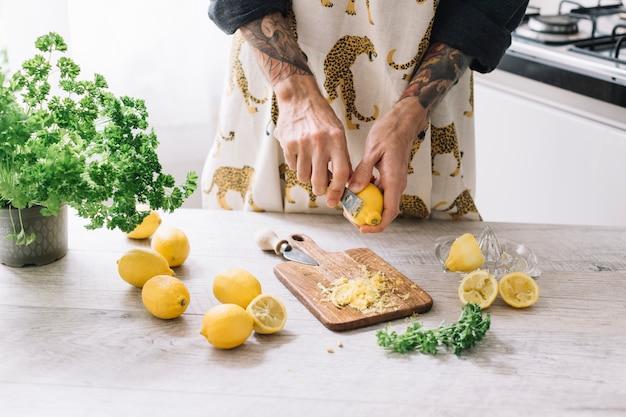 Citrons râpés Photo gratuit
