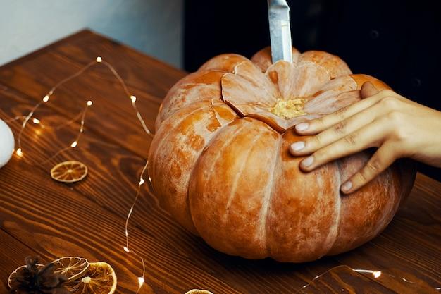 Citrouille d'halloween. Photo Premium