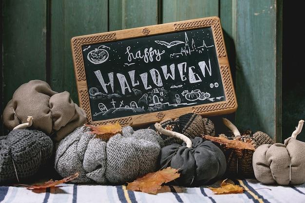 Citrouilles textiles pour la décoration intérieure Photo Premium