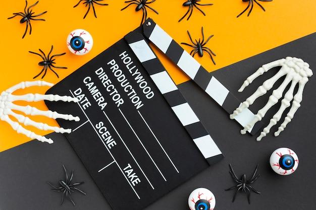 Clap De Vue De Dessus Pour Le Concept D'halloween Photo gratuit
