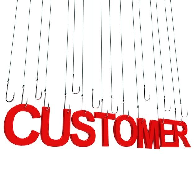 Client, texte suspendu Photo Premium