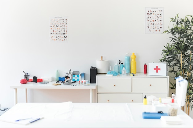 Clinique vétérinaire avec équipements médicaux Photo gratuit