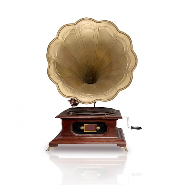 Close-up de la belle gramophone Photo gratuit