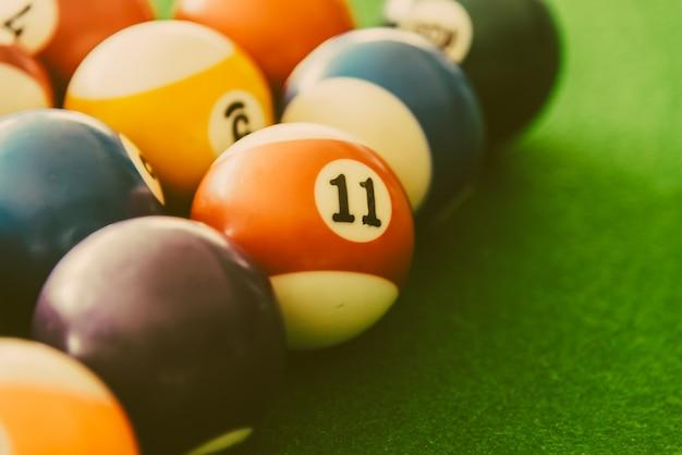 Close-up des boules de billard Photo gratuit