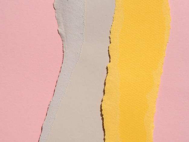Close-up Composition Abstraite Avec Des Papiers De Couleur Photo gratuit