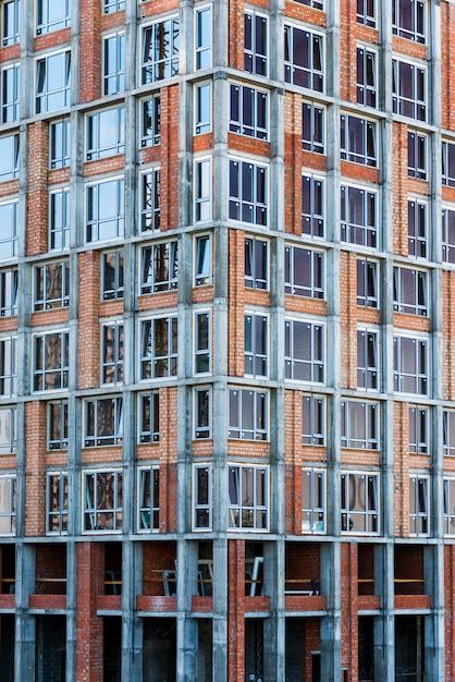 Close-up gratte-ciel en construction Photo gratuit