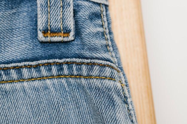 Close-up de texture denim bleu clair Photo gratuit