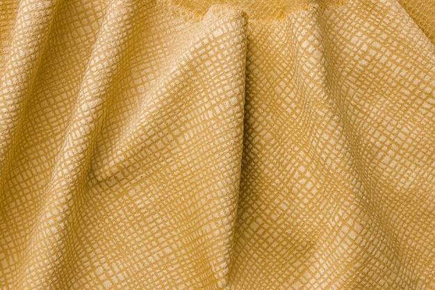 Close-up Texture De Fibre Dorée Photo gratuit