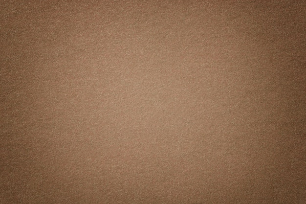 Closeup En Daim Mat Brun Clair. Texture Velours De Feutre. Photo Premium