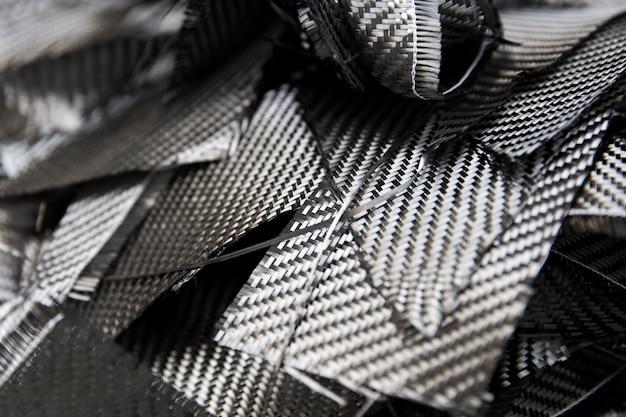 Closeup détail de la toile de fond de fibres de carbone Photo Premium