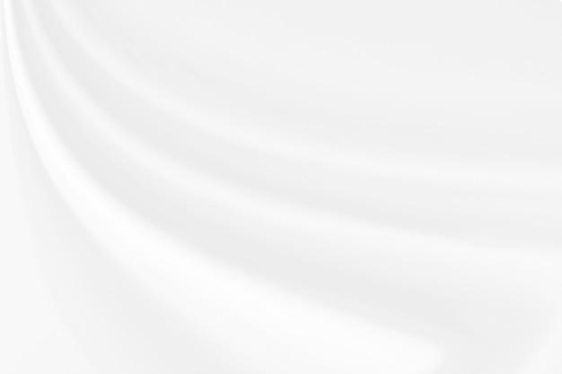 Closeup élégant froissé de texture de tissu de soie blanche Photo Premium
