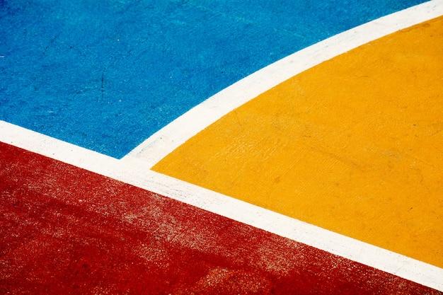 Closeup terrain de basket Photo Premium