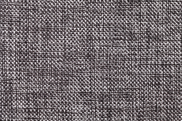 Closeup textile noir et blanc. structure de la macro de tissu Photo Premium