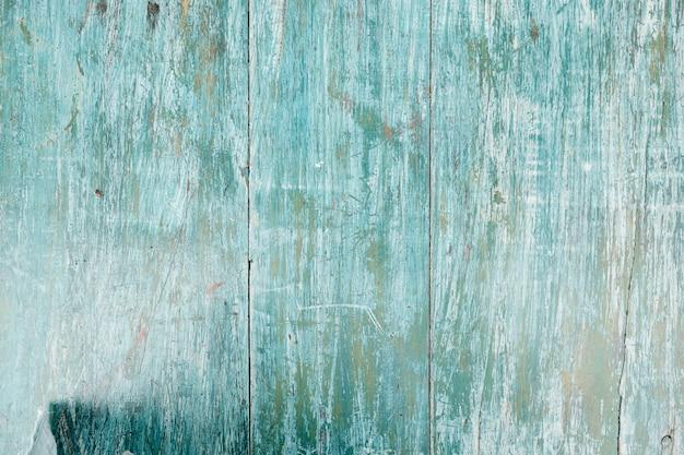 Clôture en bois bleu flou espace copie closeup Photo Premium