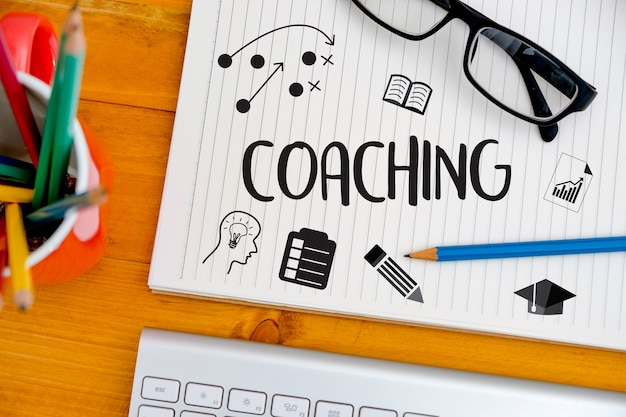 Coaching planification de la formation learning coaching business guide guide de l'instructeur Photo Premium
