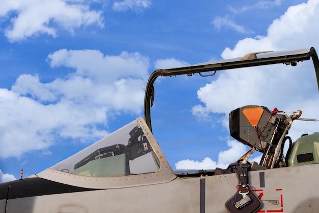 Cockpit de l'avion de chasse Photo Premium