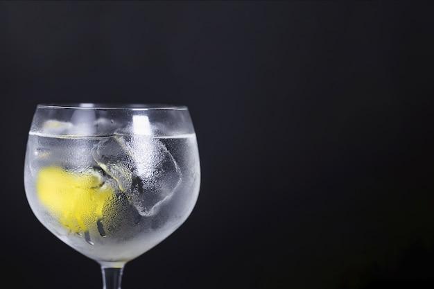 Cocktail chic avec le lemmon Photo gratuit