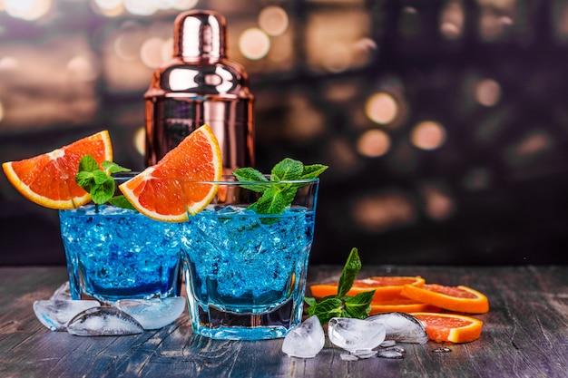 Cocktail lagon bleu Photo Premium