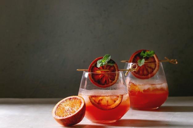 Cocktail orange sanguine Photo Premium