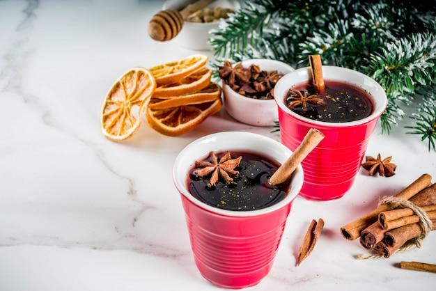 Cocktail de vin chaud Photo Premium