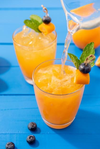 Cocktails de jus d'orange Photo Premium