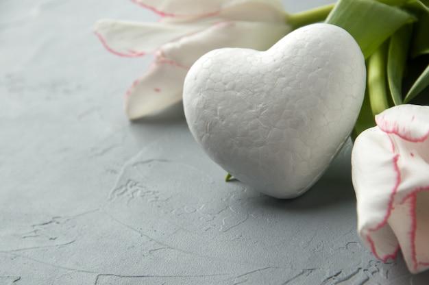 Coeur blanc Photo Premium
