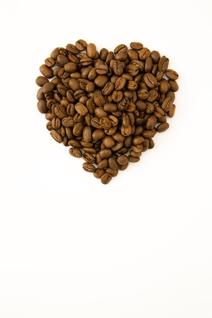 Coeur Garni De Grains De Café Photo Premium