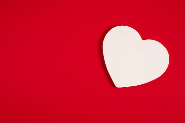 Coeur Sur Rouge Photo Premium