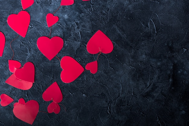 Coeurs De Papier De Fond De Saint-valentin. élément De Design Pour Carte De Voeux Romantique Photo Premium