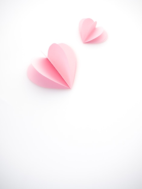 Coeurs de papier rose amour créatif Photo Premium