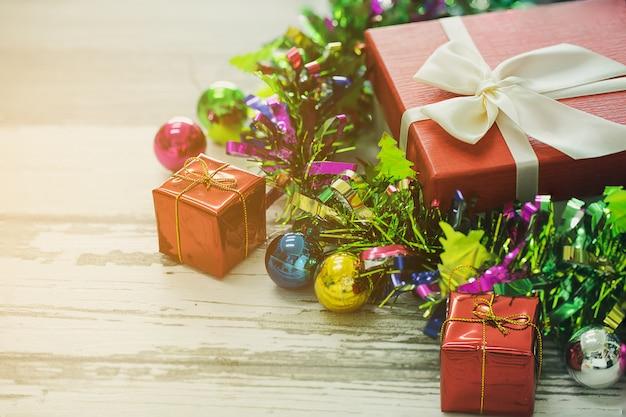 Coffret Cadeau Décoration De Chistmas. Photo Premium