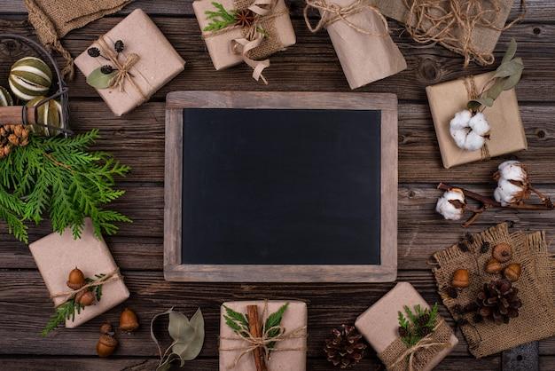 Coffrets Cadeaux De Noël En Papier Kraft Photo Premium