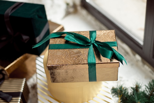 Coffrets Cadeaux De Noël Sur Le Salon Photo Premium
