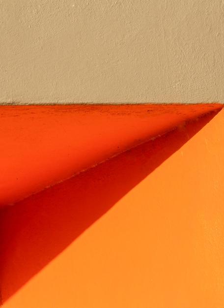 Coin D'un Mur Orange Vue De Face Photo gratuit