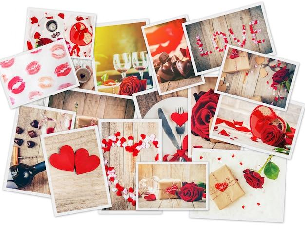 Collage d'amour et de romance. mise au point sélective. Photo Premium