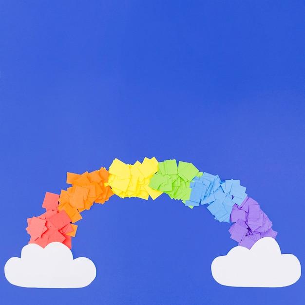 Collage coloré arc-en-ciel jour de fierté Photo gratuit