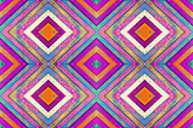 Collage à Motifs De Planches En Bois Colorées Avec De La Peinture Ancienne. Fond De Texture Photo Premium