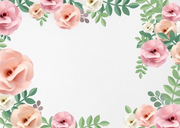 Collection Artisanale De Papier De Roses Photo Premium