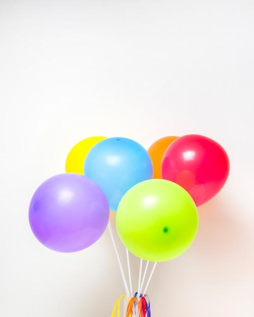 Collection de ballons lumineux Photo gratuit
